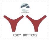 DIY 80s Style Cheeky Bikini Bottoms Roxy PDF Sewing Pattern