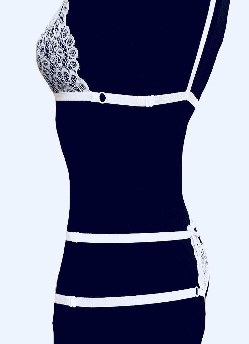 Wedding Sheer Lingerie harness lingerie Erotic Nudity see through panties Erotic lingerie set bra lace set See Through Lingerie set