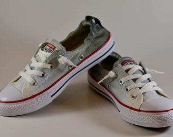 5e443dc7f26a Custom Dyed Black to Grey Ombre Converse Shoreline Shoes   FREE SHIPPING