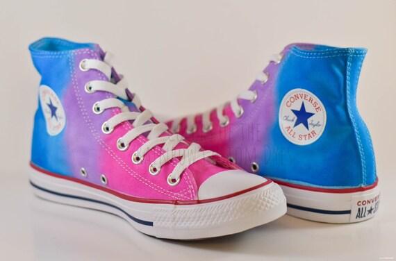Custom Dyed Hot Pink Purple Royal Blue