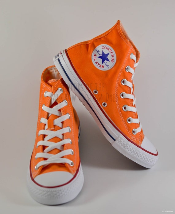 Custom Dyed Solid Orange Converse All
