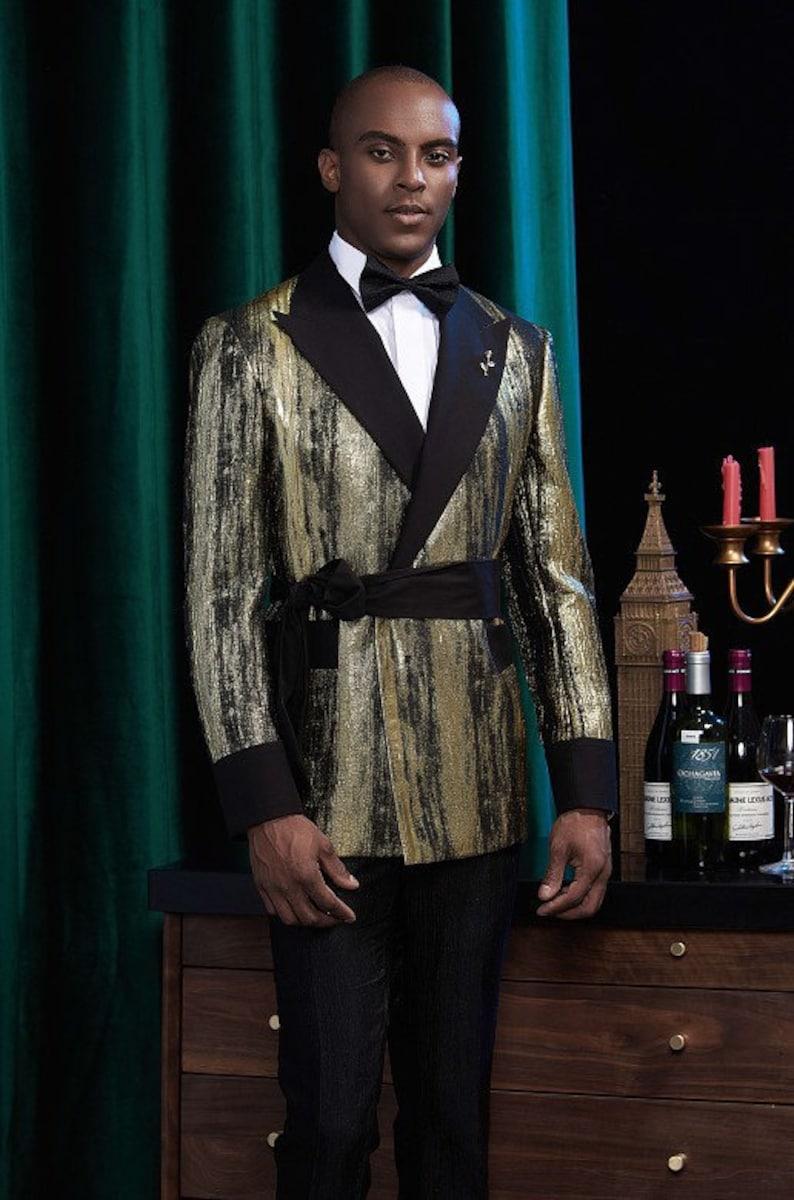 Pants Men\u2019s Gold Formal Tuxedo