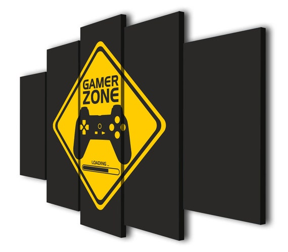 Gamer Zone Loading Joystick Wall Art Decor Print Video Game Etsy