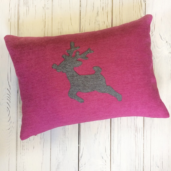Awe Inspiring Christmas Pillow Cover With A Deer Holiday Pillows Decorative Pillows For Couch Nursery Christmas Pillow Inzonedesignstudio Interior Chair Design Inzonedesignstudiocom