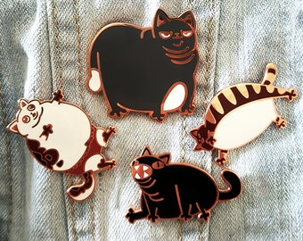 Shitty Kitties - Fat Cat Addition - Enamel Pins