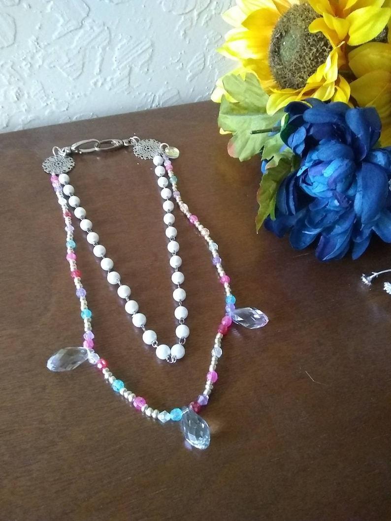 Pearl and Pastel Multi-Wear Chain Beaded Boho Jewelry Accessory Ravewear Clip On