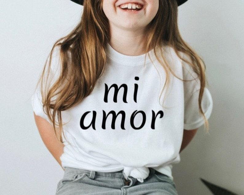 Mi Amor Shirt Mi Amor Spanish Kids Shirt Kids Graphic Shirt Kids Travel Shirt