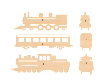 Train Laser Cut Wood Shape TRN10