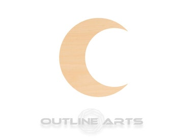 Unfinished Wooden Crescent Moon Shape   Craft Supply **Bulk Pricing Available**  SHIPS FAST*thicknesses are NOMINAL*