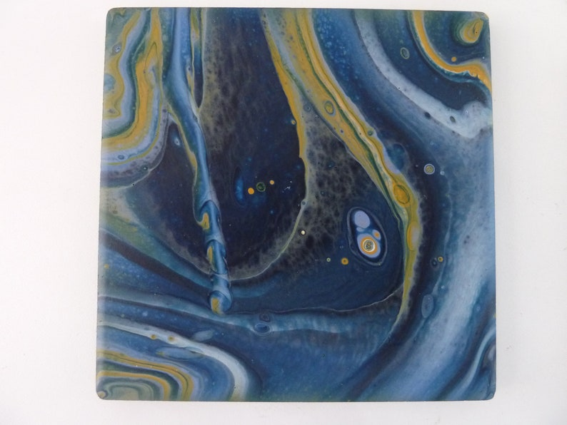 Coasters Acrylic flow  painting 4x4