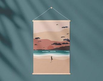 Yoga on the Beach, Sunset, Beach, Ocean, Me Time, Woman, Meditation, Summer, Holiday, Cornwall