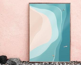Ocean Surf, View, Cornwall, Beach, Sea, Surfing, Longboard, Landscape, Abstract
