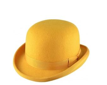 Classic Bowler Hat Mustard Yellow by waverleyg 5e099429679