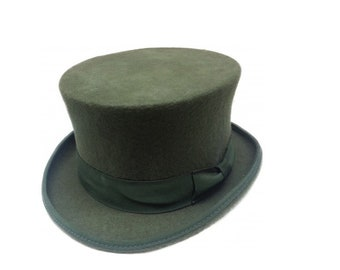 827410220b2 Classic Olive Green Top Hat by waverleyg