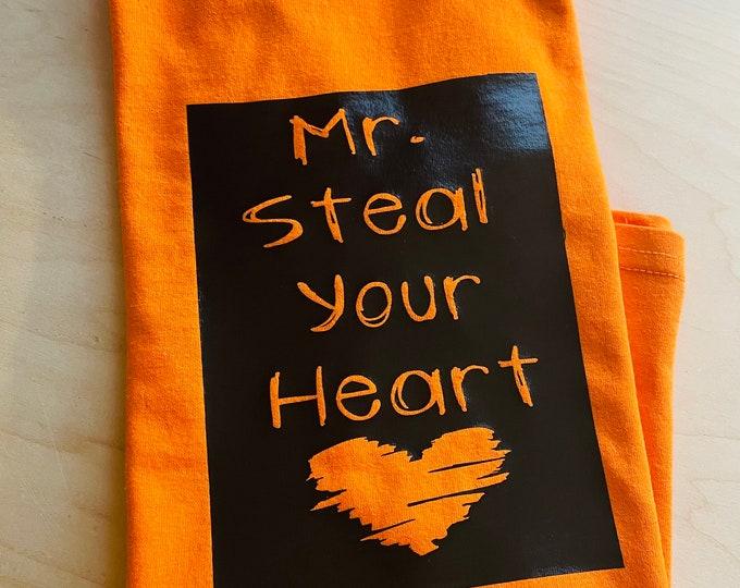 Mr steal your heart shirt, Valentines gift, boy shirt, son, boys gift, my valentine, gift for him, cute boy shirt