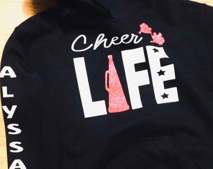 Cheer life team hoodies, bulk, cheer life, cheerleader