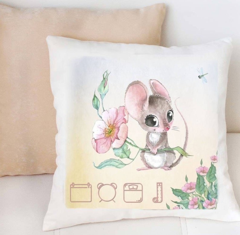 PERSONALISED BABY PILLOWS COT PILLOWS  EMBROIDERED GIFT PILLOW flat sheet