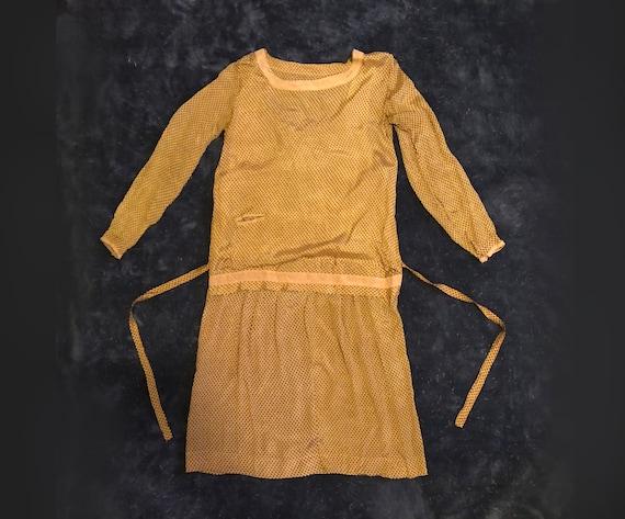 S | Geometric Deco 1920s Day Dress