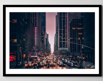 6th Avenue in New York City - Fine Art Photograph - Framed - Ready-to-Hang - Multiple Sizes