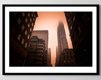 New York City on Fire - Fine Art Photograph - Framed - Ready-to-Hang - Multiple Sizes