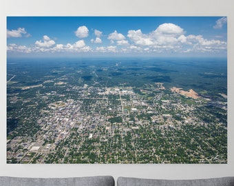 Metal Print - Aerial over Bloomington, Indiana - Multiple Sizes