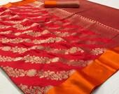 Vintage Heavy Soft Silk Weaving Saree Bridal Wear Gift Occasional Wear Party Wedding Sari Used Fabric Heavy Silk Beautiful Saree For Women 39 s