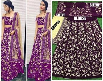 99959241039e pakistani occasion Sahara VELVETSILK bridal lehenga choli indian wedding  wear embroidered Elegant Party Bridesmaid Dress for Women and Girls