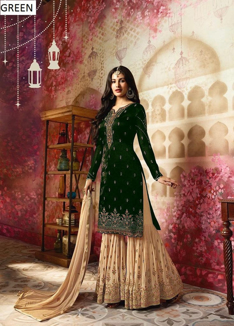Customised Stitched pakistani straight cut suit  Indian suit   Party   Evening wearWear Casual Wear  wedding wear