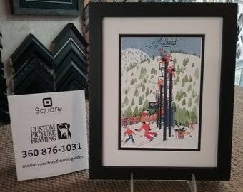 "Rie Munoz ""PTARMAGIN LIFT"" New Custom Framed & Matted Art Card"