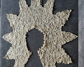Victorian lace collar shirt XIX Victorian Provençal France / Fashion accessory / Haberdashery / Creative leisure / Embroidery / Collar to restore