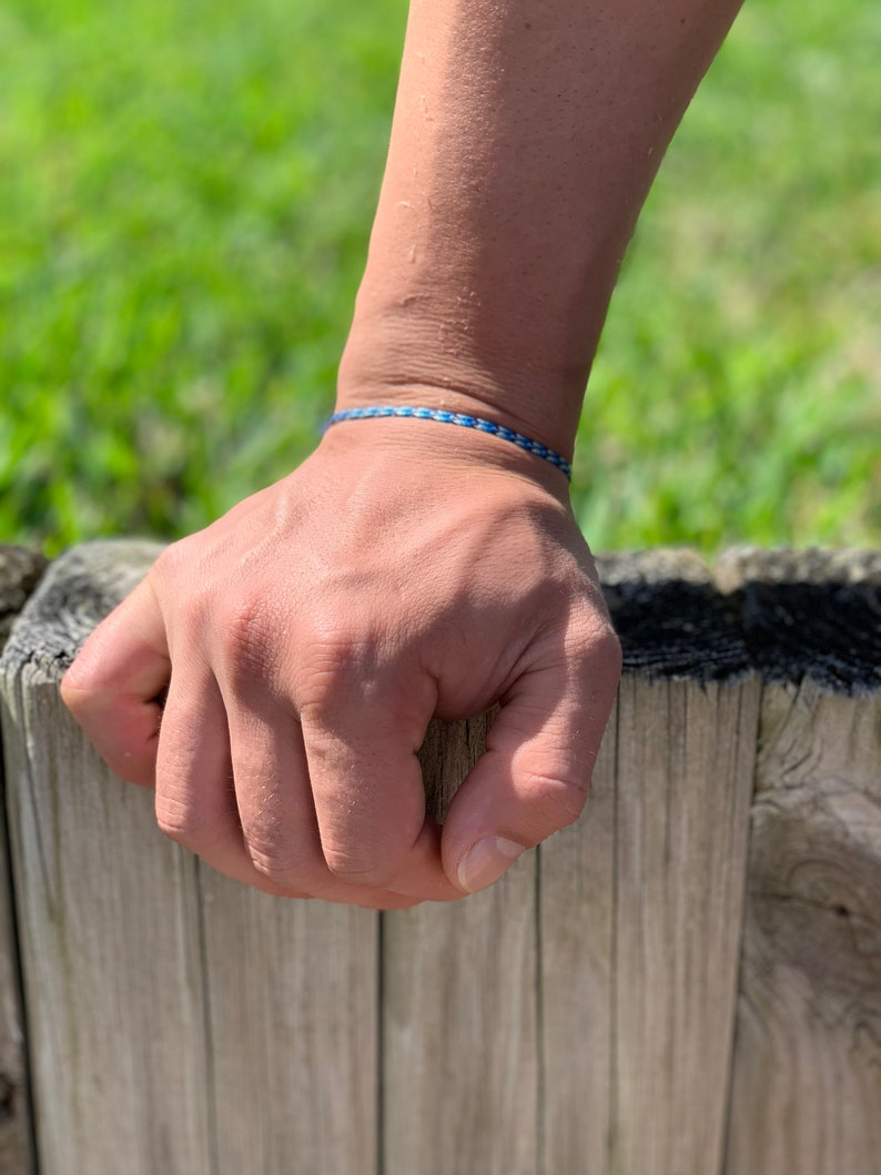 Blue Bracelet Gift for Boyfriend Mens Jewelry Minimalist Friendship Bracelet Mens Bracelet Minimal Jewelry BFF Gift Something Blue