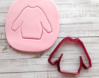 Christmas sweater cookie cutter, 8 cm x 10 cm Ugly Sweater Cutter