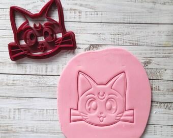 Luna Cat Cookie Cutter9.2cm x 7.2cm, Luna Cat Cookie Cutter