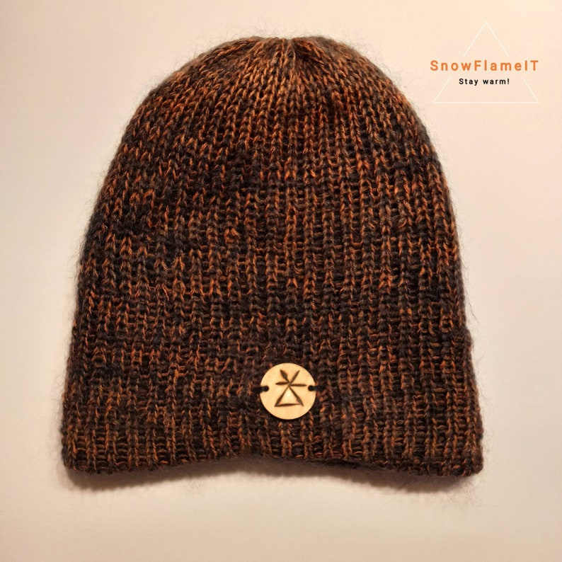 winter gift soft sport PERSIMMON hat size BABY Hand made in Italy by SnowFlameIT in mohair wool and cashmere cap