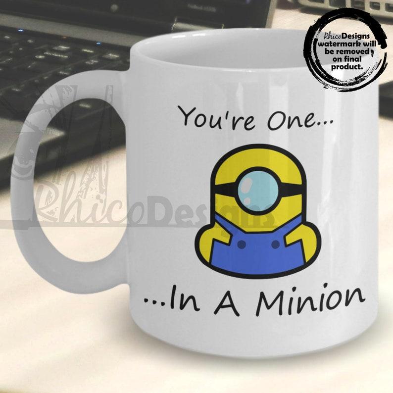 Minions Mug You're One In A Minion Mug Valentines Day
