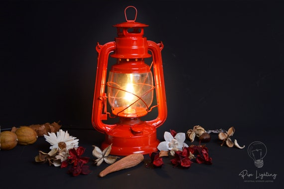Red Electric Lantern Table Lamp, Electric Lantern Table Lamps