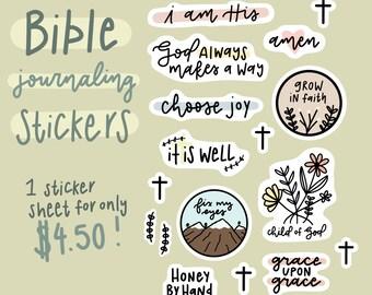 Bible Journaling Sticker Set - Christian Planner Stickers - Bible Verse Stickers - Planner Stickers - Christian Sticker - Faith Stickers