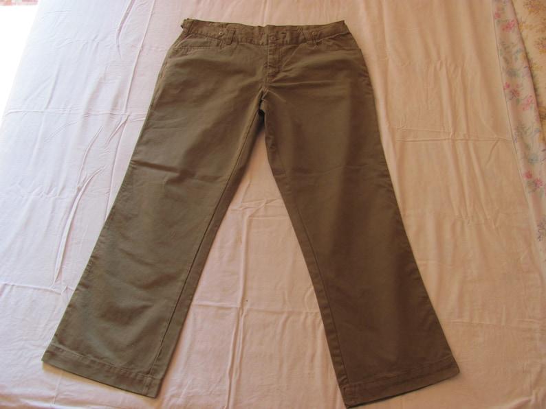 90s Kapriol men/'s pants brown color new TG.Sise 52 Vintage