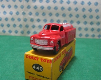 Vintage Dinky toys  -  TANKER Mobilgas   - 1/43 Dinky toys 440  - Made in England 1954   -  Mint Box