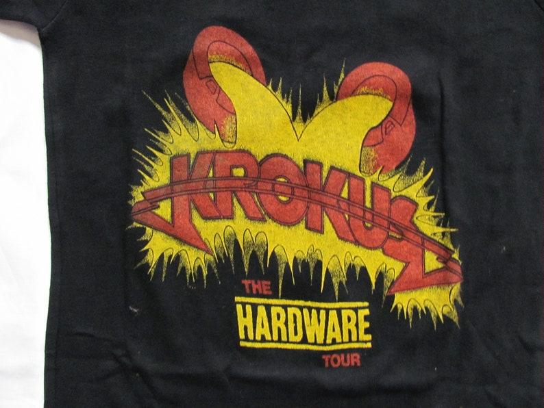KROKUS   Hardware Tour Unworn Vintage T-shirt 1982-100/% Cotone Tg.Size  Small  Medium