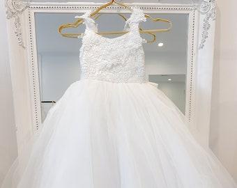 Hand Made Flower Girl Dress Ann | Birthday Party Princess Dress | Flower Girl Gown Made-to-order