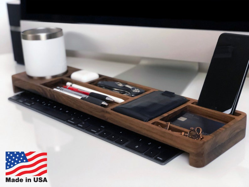 Luma Desk Organizer in Walnut Wood Made in USA Now on sale: image 0