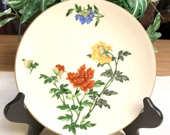 Castleton China Salad Plate, Ma Lin by Ching-Chih Yee, Floral China Plate, 7 inch