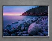 Boulder Beach Sunrise | Seascape Prints | Acadia National Park | Maine Photography | Ocean Beach Photography | Bar Harbor