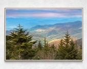 Blue Ridge Mountains Art | Great Smoky Mountains National Park Print | Blue Ridge Mountain Photography | Mountain Cabin Decor
