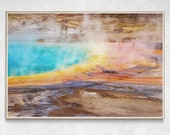 Grand Prismatic Spring Wall Art | Yellowstone National Park Photography | Abstract Colourful Print