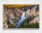 Yellowstone Lower Falls Photo Print | Landscape | Photography | Yellowstone | Waterfall | Fine Art | Print