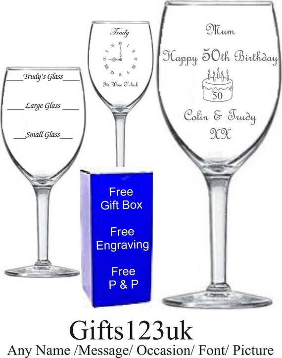 Party Gift Ideas 60th Birthday Wine Glass Charm Personalised with any name