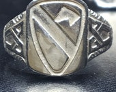 US Army 1st Calvary Army Ring SZ 10 925 Sterling Silver