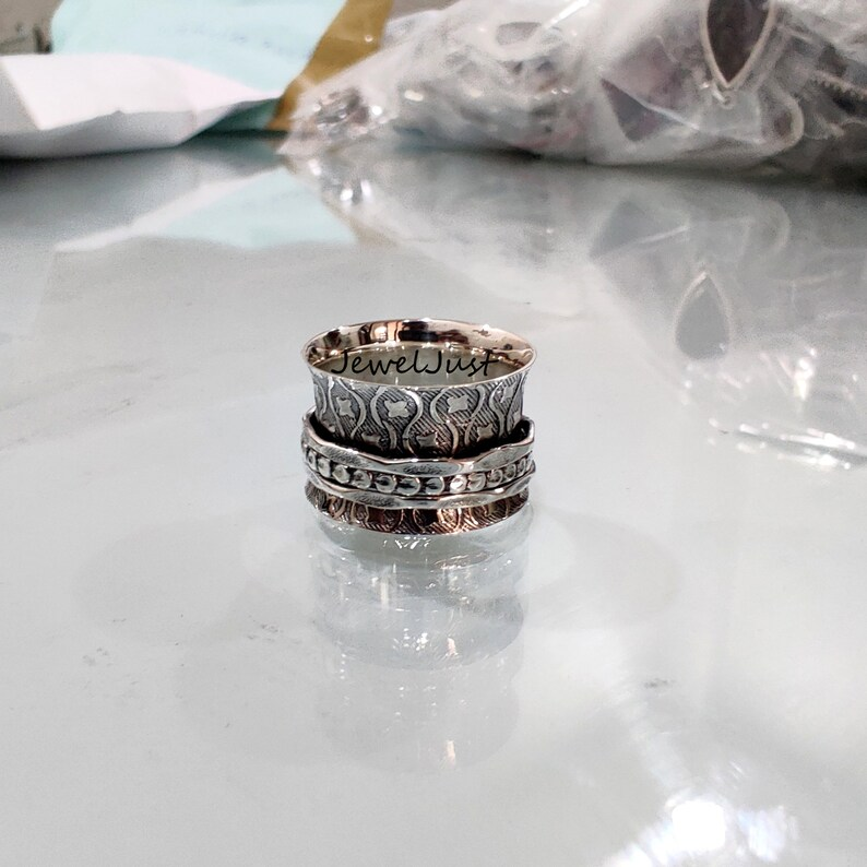 Promise Ring Worry Ring Spinner Ring Women Ring Meditation Ring Thumb Ring 925 Silver Ring Gift For Her Anxiety Ring Fidget Ring